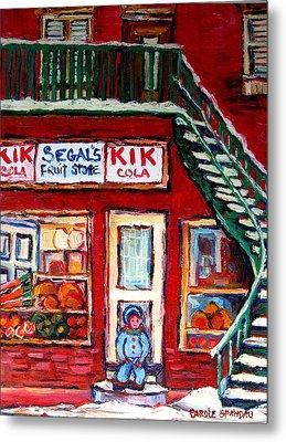 Segal's Market St.lawrence Boulevard Montreal Metal Print by Carole Spandau
