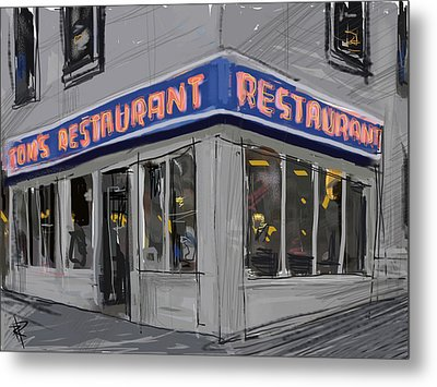 Seinfeld Restaurant Metal Print by Russell Pierce