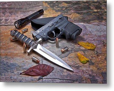 Self Defense Still Life Metal Print by Tom Mc Nemar