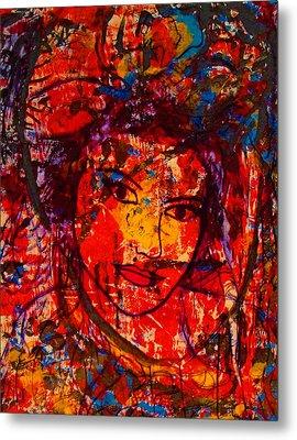 Self-portrait-5 Metal Print by Natalie Holland