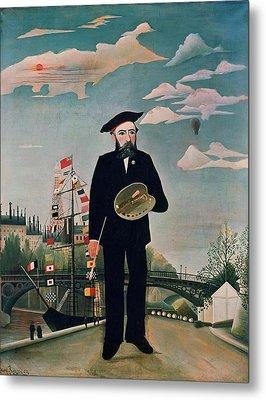 Self Portrait From Lile Saint Louis Metal Print by Henri Rousseau