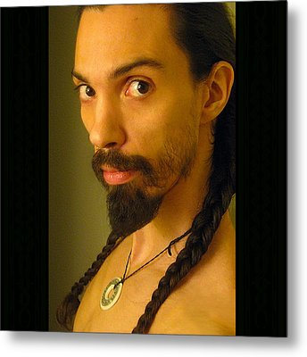 Self Portrait The Native Within Me Metal Print by Shawn Dall