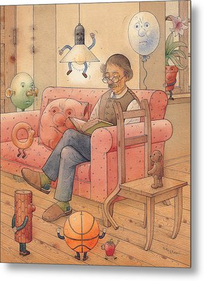 Self-portrait With My Things Metal Print by Kestutis Kasparavicius