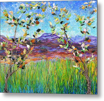 Sentries Diptych Metal Print by Regina Valluzzi