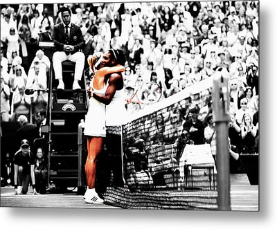 Serena Williams And Angelique Kerber 1a Metal Print by Brian Reaves
