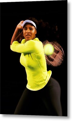 Serena Williams Bamm Metal Print by Brian Reaves