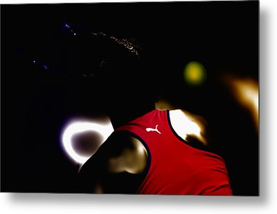 Serena Williams Doing It Metal Print by Brian Reaves