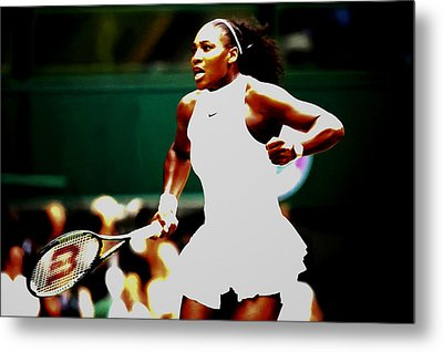 Serena Williams Making History Metal Print by Brian Reaves
