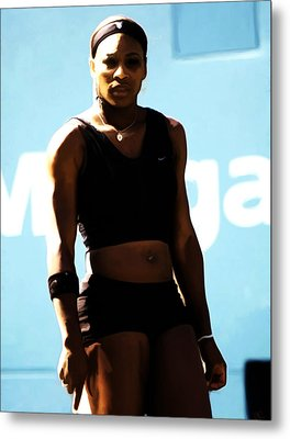 Serena Williams Match Point IIi Metal Print by Brian Reaves