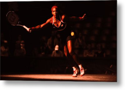 Serena Williams Passion Metal Print by Brian Reaves