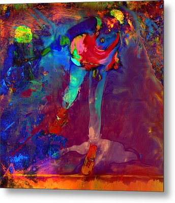 Serena Williams Return Explosion Metal Print by Brian Reaves
