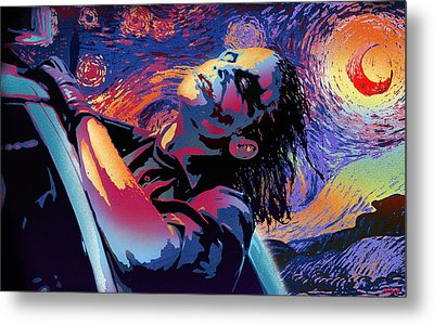 Serene Starry Night Metal Print by Surj LA
