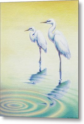 Serenity Metal Print by Amy S Turner