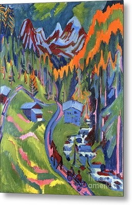 Sertig Path In Summer Metal Print by Ernst Ludwig Kirchner