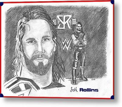 Seth Rollins Metal Print by Chris  DelVecchio