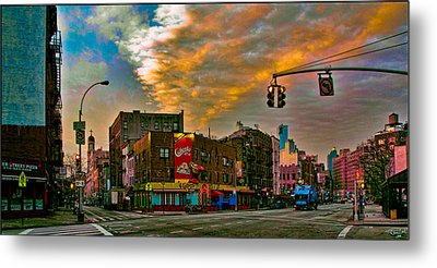 Seventh And Bleeker At Sunrise Nyc Metal Print by Chris Lord