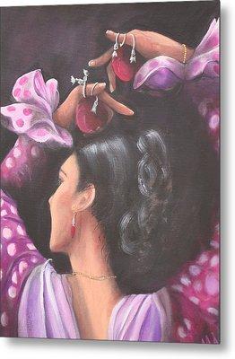 Seville Flamenco Dancer Metal Print by Marlyn Anderson