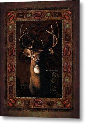 Shadow Deer Metal Print by JQ Licensing