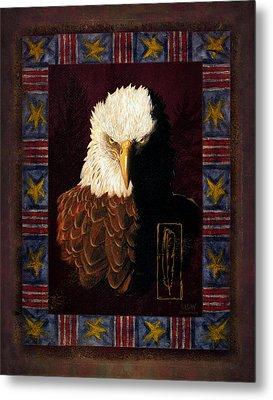 Shadow Eagle Metal Print by JQ Licensing