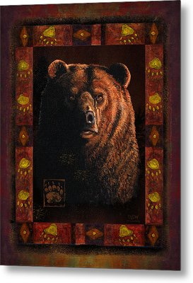 Shadow Grizzly Metal Print by JQ Licensing