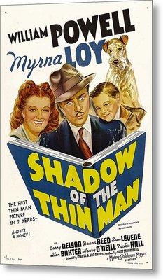 Shadow Of The Thin Man, Myrna Loy Metal Print by Everett