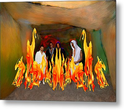 Shadrach Meshach And Abednego  Metal Print by Bruce Nutting
