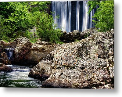 Shady Lake Falls Metal Print by Lana Trussell