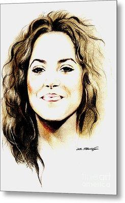 Shakira Metal Print by Lin Petershagen