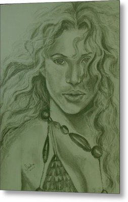Shakira Metal Print by Sandra Valentini