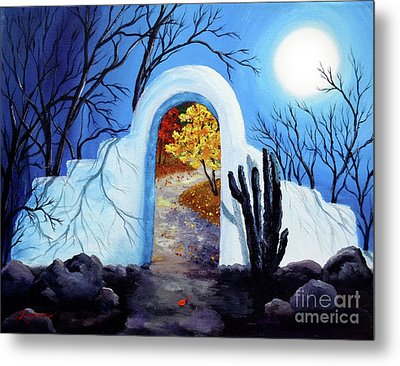 Shamans Gate To Autumn Metal Print by Laura Iverson