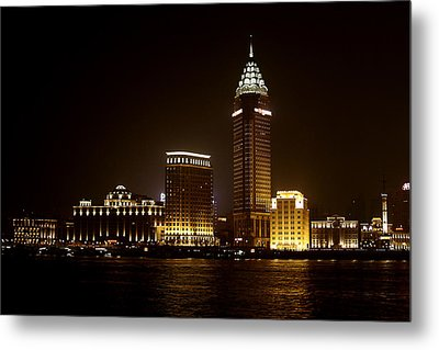 Shanghai's Bund Is Back To Its Best Metal Print by Christine Till