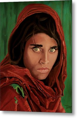 Sharbat Gula From Nat Geo Mccurry 1985 Metal Print by D Turner