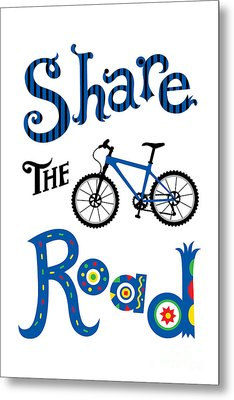 Share The Road Metal Print by Andi Bird