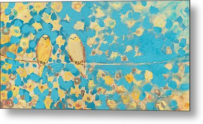 Sharing A Sunny Perch Metal Print by Jennifer Lommers