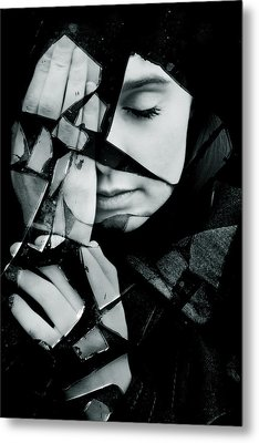 Shattered Metal Print by Cambion Art