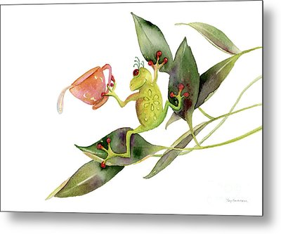 She Frog Metal Print by Amy Kirkpatrick