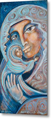 She Holds Love In Her Arms Metal Print by Shiloh Sophia McCloud