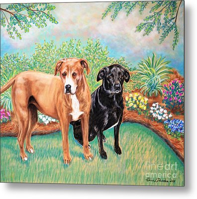 Shelter Rescued And Loved Metal Print by Patricia L Davidson