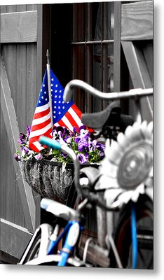 She's A Grand Old Flag Metal Print by Greg Fortier
