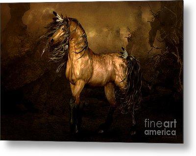 Shikoba Choctaw Horse Metal Print by Shanina Conway