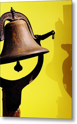 Ship's Bell Metal Print by Rebecca Sherman