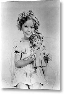 Shirley Temple With A Shirley Temple Metal Print by Everett