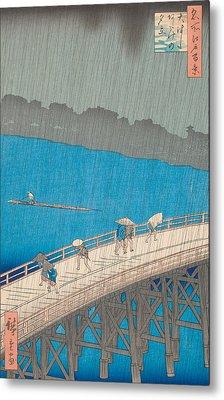 Shower Over Ohashi Bridge Metal Print by Hiroshige
