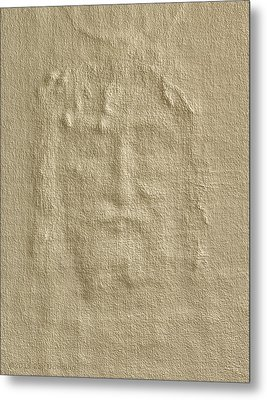 Shroud Of Turin 3d Information Metal Print by Ray Downing