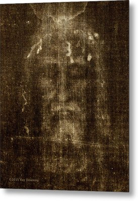 Shroud Of Turin Metal Print by Ray Downing