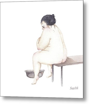 Shy Metal Print by Soosh