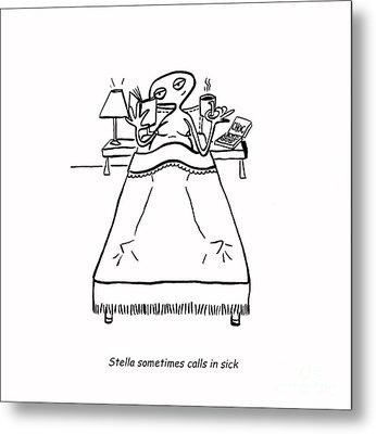 Sick Day Metal Print by Leanne Wilkes