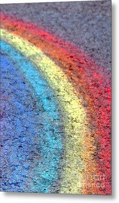 Sidewalk Rainbow  Metal Print by Olivier Le Queinec