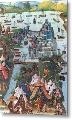 Siege Of Constantinople, 1453 Metal Print by Photo Researchers