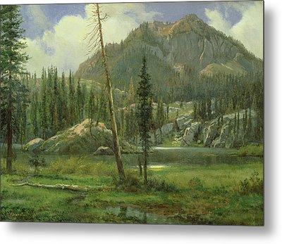 Sierra Nevada Mountains Metal Print by Albert Bierstadt